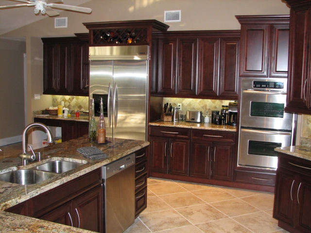 Inspired woodworking naples fl cabinets custom woodworking for Cherry kitchen cabinets
